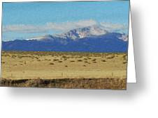 Pikes Peak Painterly Greeting Card