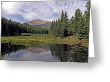 Pikes Peak Reflection Greeting Card