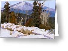 Pikes Peak Winter View Greeting Card