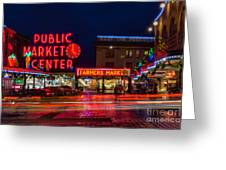 Pikes Place Market Greeting Card