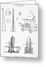 Pile Driver, Fire Engine, Steam Engine Greeting Card