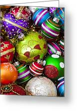 Pile Of Beautiful Ornaments Greeting Card
