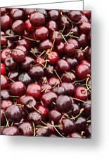 Pile Of Cherries Greeting Card