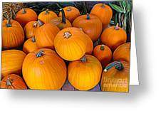 Pile Of Pumpkins For Sale Expressionist Effect Greeting Card