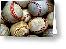Pile Or Stack Of Baseballs For Playing Games Greeting Card