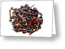 Pile Pipes Greeting Card