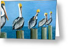 Piling On Greeting Card