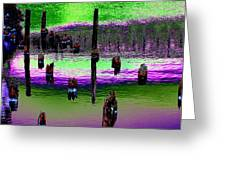 Pilings Of The Past Greeting Card