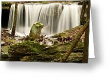 Pillar And Waterfall Greeting Card