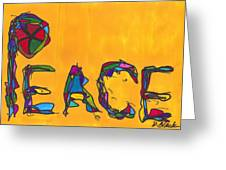 Pillar Of Peace Greeting Card