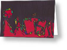Pillar Of Racism Greeting Card