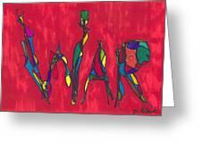 Pillar Of War Greeting Card