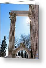 Pillars Of Hercules - The Guild Inn Greeting Card