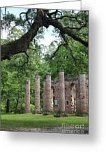 Pillars Of Sheldon Church Ruins Greeting Card