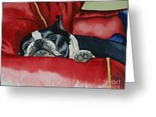 Pillow Pup Greeting Card
