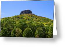 Pilot Mountain In Spring Green Greeting Card
