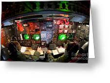 Pilots At The Controls Of A B-52 Greeting Card by Stocktrek Images