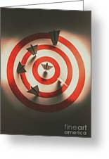Pin Point Your Target Audience Greeting Card