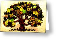 Pinatamiche Tree Painting In Crackle Paint Greeting Card