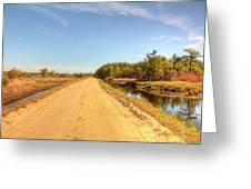 Pine Barrens Of New Jersey Cranberry Harvest Bogs  Greeting Card