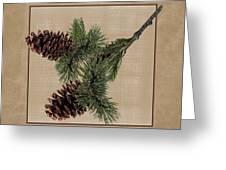 Pine Cone Design Greeting Card