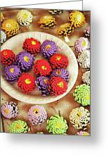Pine Cone Flower Project Greeting Card