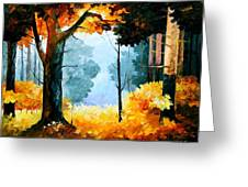 Pine Wood Greeting Card