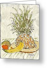 Pineapple And Banana Greeting Card