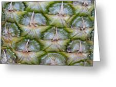 Pineapple Close-up Greeting Card
