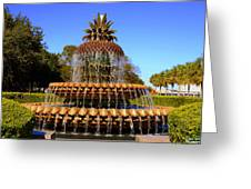 Pineapple Fountain Charleston Sc Greeting Card