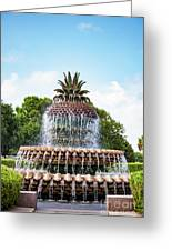 Pineapple Fountain In Charleston South Carolina Greeting Card