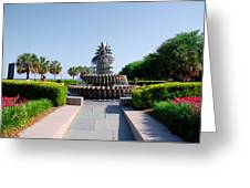 Pineapple Fountain In Charleston Greeting Card