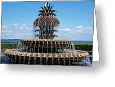 Pineapple Fountain Greeting Card