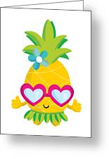 Pineapple Hula Greeting Card