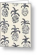 Pineapple Print Greeting Card