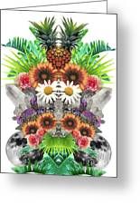 Pineapples And Crystals Greeting Card