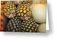 Pineapples And Melons Greeting Card