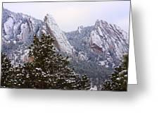 Pines And Flatirons Boulder Colorado Greeting Card