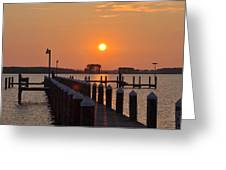 Piney Point Sunrise Greeting Card