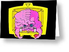 Pink Alien Greeting Card