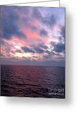 Pink And Blue Sunset In The Black Sea Greeting Card
