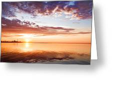 Pink And Gold Morning Zen - Toronto Skyline Impressions Greeting Card