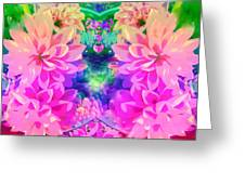 Pink And Lilac Greeting Card