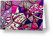 Pink And Purple Abstract Greeting Card
