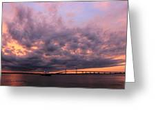 Pink And Purple Sunset Greeting Card