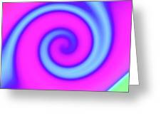 Pink And Turquoise Swirl Abstract Greeting Card