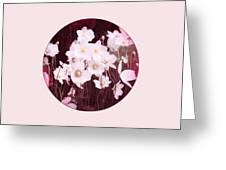 Pink And White Anemones Greeting Card