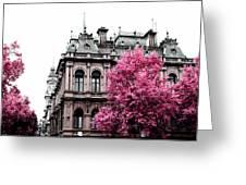 Pink Autumn Greeting Card