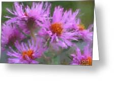 Pink Autumn Flowers Greeting Card