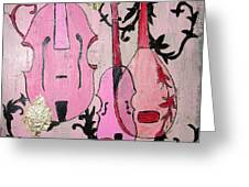 Pink Baroque Greeting Card